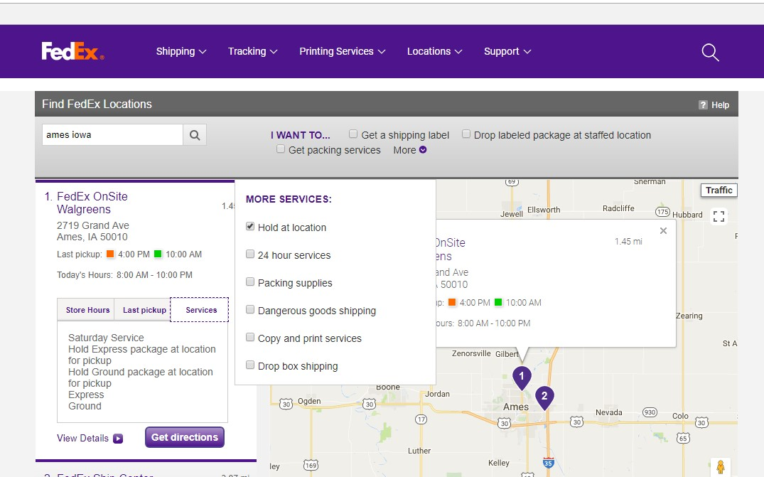FedEx - Hold at Location – WineShop At Home